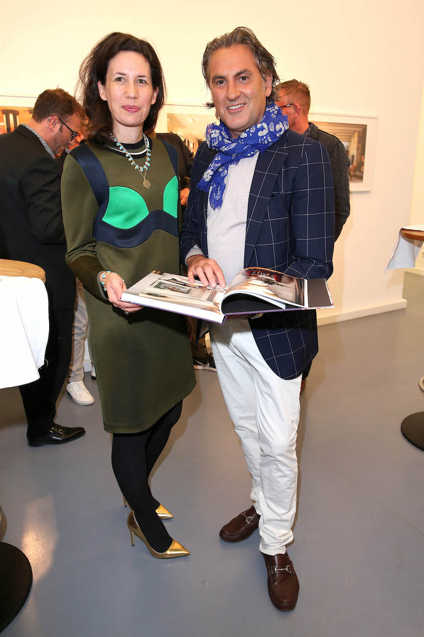 "MUNICH, GERMANY - SEPTEMBER 17: Publisher Dr. Marcella Prior-Callwey and Interiordesigner Peter Buchberger during the book launch of ""Peter Buchberger - Wohndesign"" by Peter Buchberger on September 17, 2019 in Munich, Germany. (Photo by Gisela Schober/Getty Images for Peter Buchberger)"